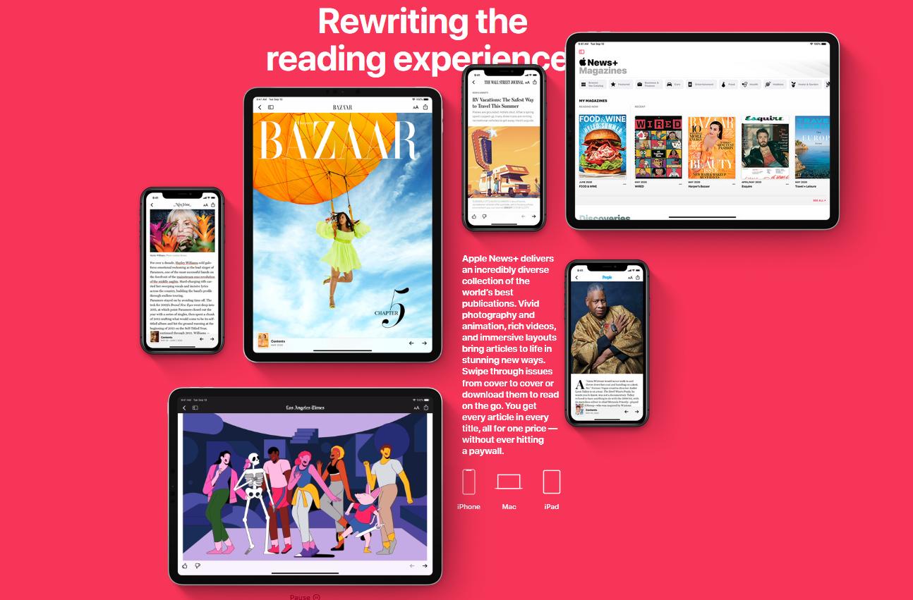 Apple News+ page