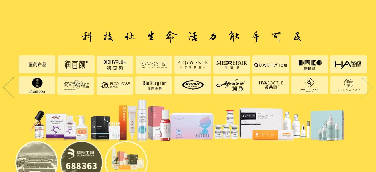 Bloomage BiotechProduct Line