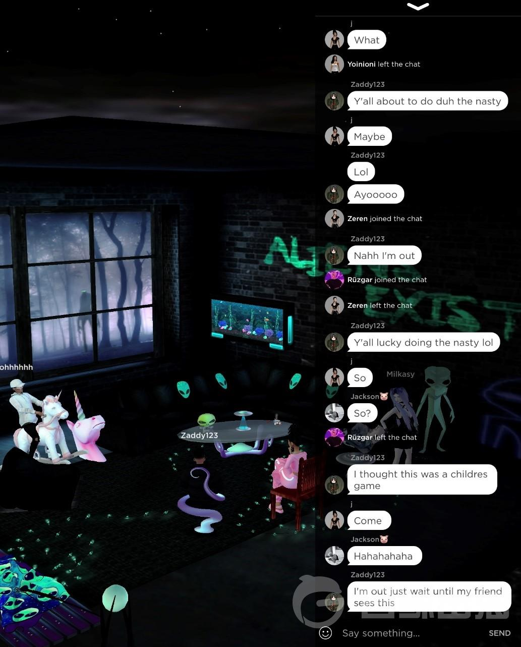 chat room in IMVU